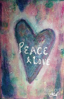 Painting - Peace And Love by Kirsi Wahlstrom