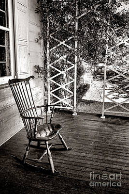 Rocking Chairs Photograph - Peace And Quiet by Olivier Le Queinec