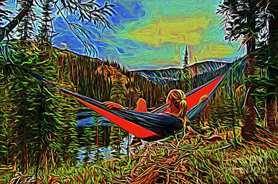 Photograph - Peace And Relaxing 19718 by Ray Shrewsberry