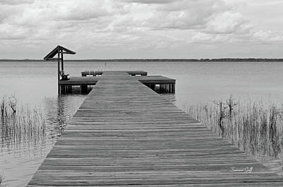 Peace And Serenity II-black And White Art Print by Suzanne Gaff