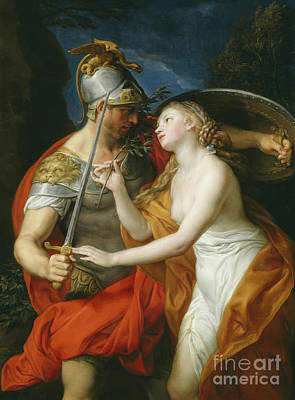 War And Peace Painting - Peace And War by Pompeo Girolamo Batoni