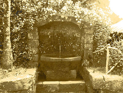 Photograph - Peace And Water Vintage by Laura Greco
