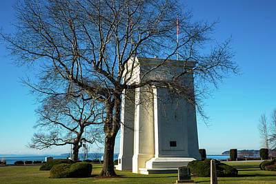 Photograph - Peace Arch And January Trees by Tom Cochran