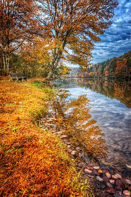 Photograph - Peace At Fall by Debra and Dave Vanderlaan