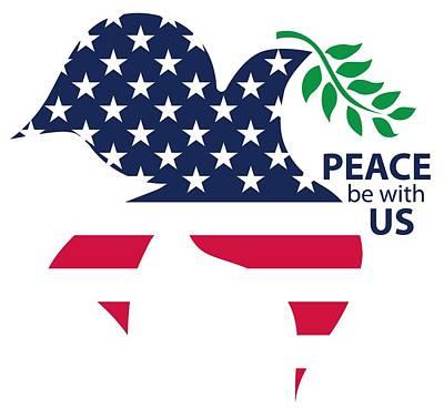 Digital Art - Peace be with US by Steve Lockwood