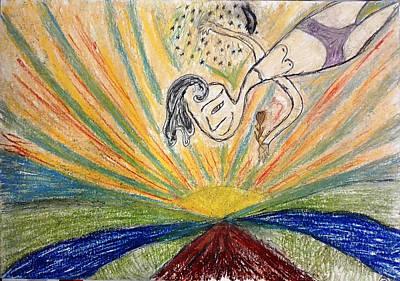 Drawing - Peace by Bennu Bennu