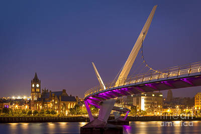 City Council Photograph - Peace Bridge And Londonderry by Brian Jannsen