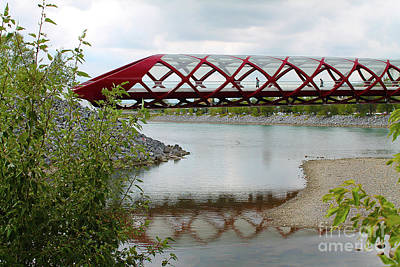 Photograph - Peace Bridge Reflection by Nina Silver