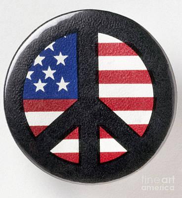 Photograph - Peace Button, C1971 by Granger