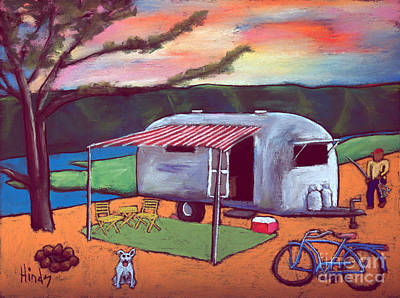 Airstream Painting - Peace by David Hinds