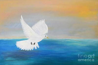 Painting - Peace Descending by Karen Jane Jones