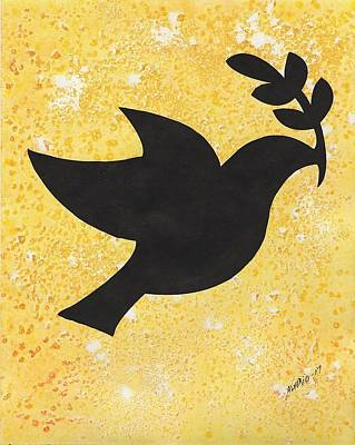 Painting - Peace Dove by Edwin Alverio