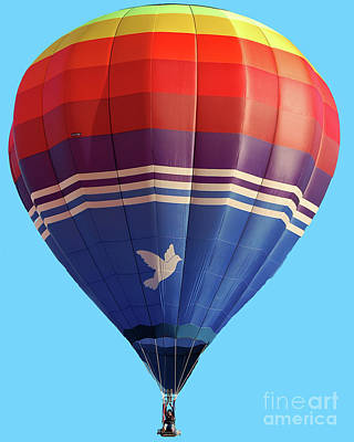Photograph - Peace Dove Hot Air Balloon by Diane E Berry