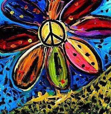 Painting - Peace Flower by Neal Barbosa