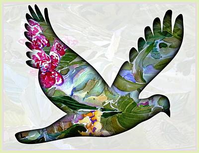 Birds Painting Rights Managed Images - Peace for Peace Royalty-Free Image by Mindy Newman