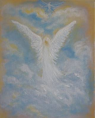Painting - Peace From An Angel  by Leslie Allen