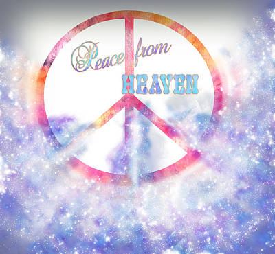Cosmic Space Painting - Peace From Heaven Original Digital Painting by Georgeta Blanaru