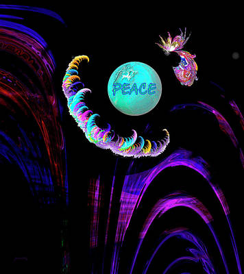 Digital Art - Peace by Gerlinde Keating - Galleria GK Keating Associates Inc