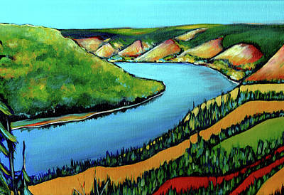 Wall Art - Painting - Peace Hills by Alison Newth