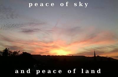 Photograph - Peace Horizon by Julia Woodman
