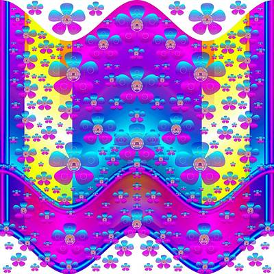 Chakra Rainbow Mixed Media - Peace In Rainbow Country by Pepita Selles