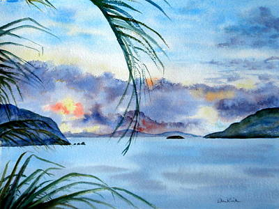 Painting - Peace In The Caribbean by Diane Kirk