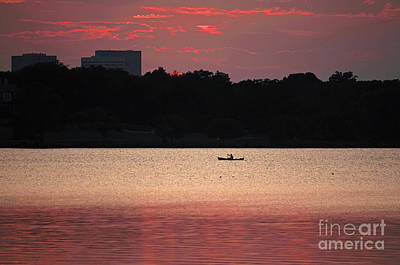 Texas Lake Photograph - Peace In The City by Lisa Holmgreen