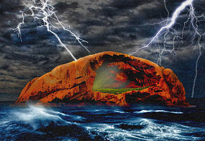 Peace In The Cleft In The Midst Of The Storm Art Print