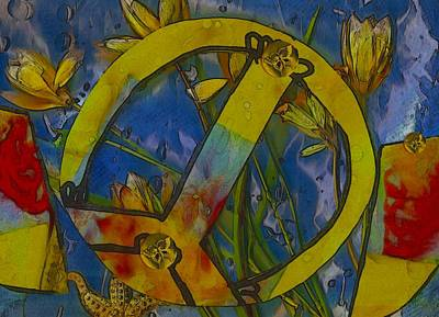 Nature Abstract Mixed Media - Peace In The Nature by Pepita Selles