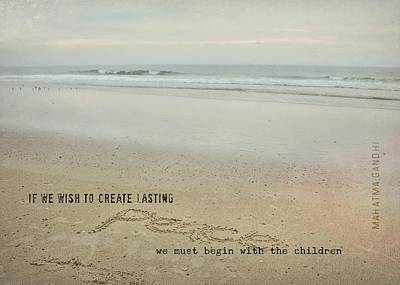 Photograph - Peace In The Surf Quote by JAMART Photography