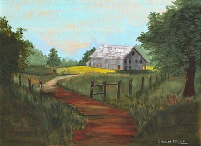 Art Print featuring the painting Peace In The Valley by Sharon Mick