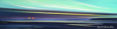 Peace Is Colorful - Panoramic 2 Print by Gina De Gorna