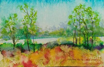Wall Art - Painting - Peace Like A River by Debra Link