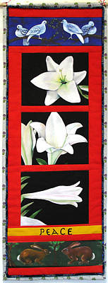 Painting - Peace Lilies by Grace Matthews