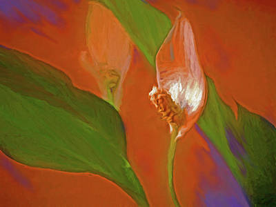 Mixed Media - Peace Lily Grace 20 by Lynda Lehmann