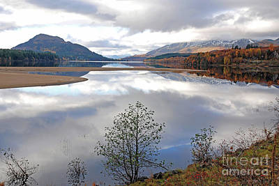 Photograph - Autumn Reflections - Loch Laggan by Phil Banks