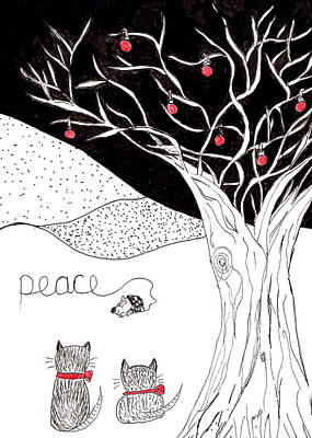 Drawing - Peace by Lou Belcher