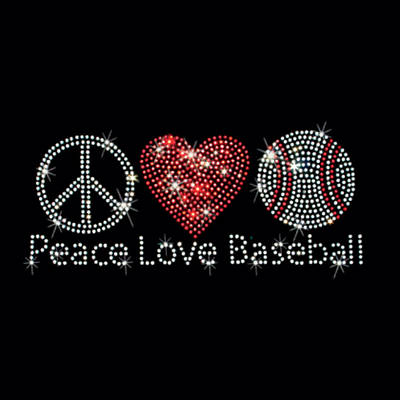 Photograph - Peace Love Baseball  Art by Sheila Mcdonald