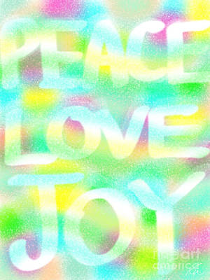 Painting - Peace Love Joy by Frances Ku