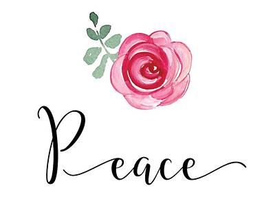 Mixed Media - Peace by Nancy Ingersoll