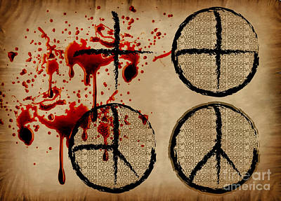 Peace Not Crosshairs Art Print by Laura Brightwood