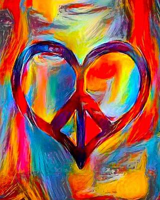 Peace Of My Heart - Multi Art Print by Artistic Mystic