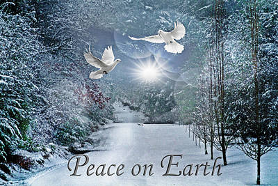 Photograph - Peace On Earth At Christmastime by Debra and Dave Vanderlaan