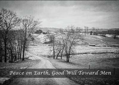 Photograph - Peace On Earth - Black And White by Joni Eskridge
