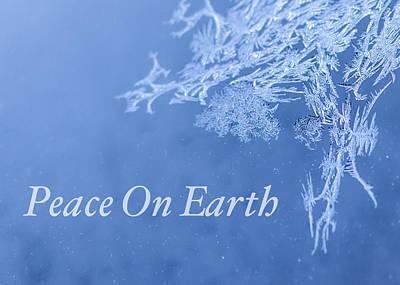 Peace On Earth Christmas Card Art Print by Joy McAdams