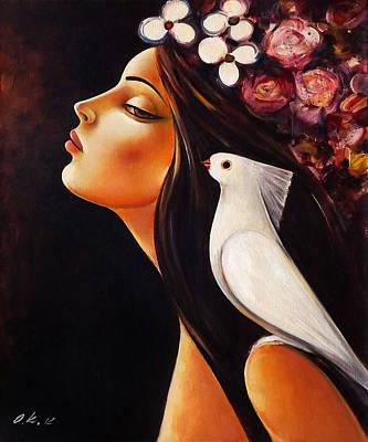 Peace On My Shoulder Print by Ognian Kouzmanov