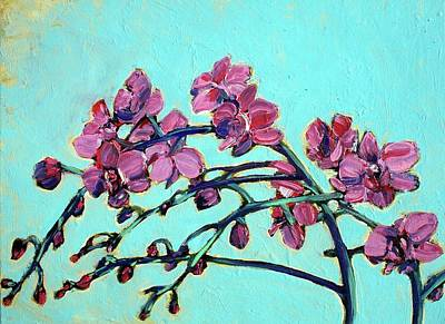 Painting - Peace Orchids by Sheila Tajima