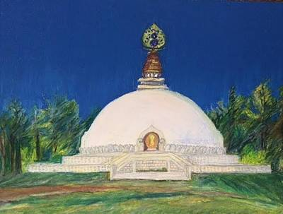 Pastel - Peace Pagoda by Therese Legere