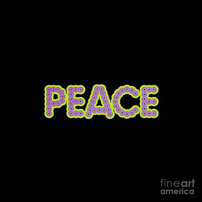 Digital Art - Peace by Rachel Hannah