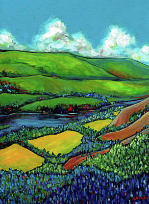 Wall Art - Painting - Peace River Canola by Alison Newth
